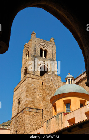 Cloister of the Duomo di Monreale, Palermo - Stock Photo