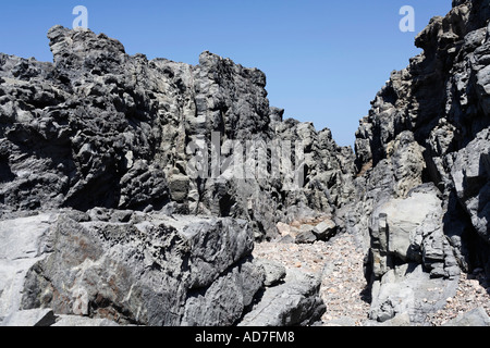 coast in Aguas Verdes Playa del Valle Fuerteventura Canary Islands - Stock Photo
