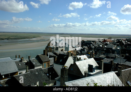 Mouth of the river Somme at St Valery-Sur-Somme, Northern France. - Stock Photo