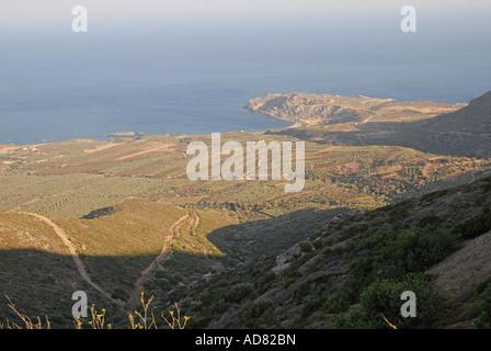 CRETE The coast in the far west of Hania province - Stock Photo