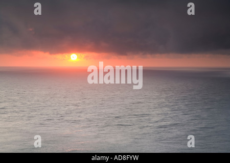 Sunset from Hartland Point - Stock Photo