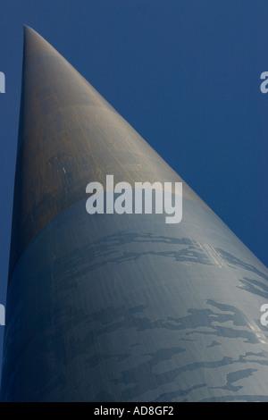 Up the Millennium Needle: Monument of Light - Stock Photo