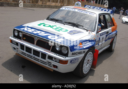 lancia delta HF integrale at goodwood festival of speed - Stock Photo