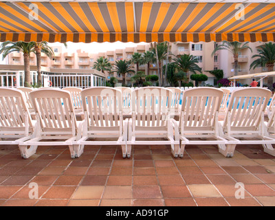 Sun Lounging Chairs - Stock Photo