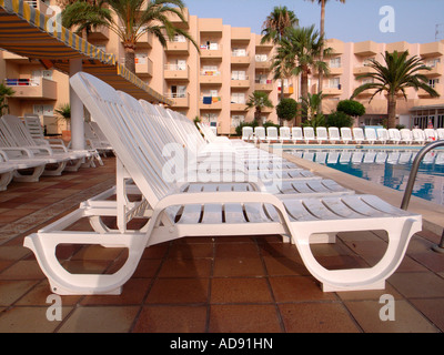 Sun Bed - Stock Photo