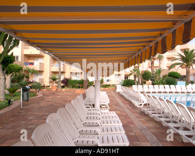 Sun Beds - Stock Photo