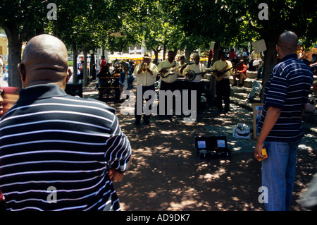 Buskers at the Victoria and Alfred waterfront, Cape Town, Western Cape, South Africa. - Stock Photo