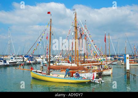 Yarmouth Old Gaffers, Yarmouth, Isle of Wight, England, UK. GB. - Stock Photo