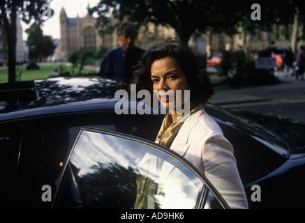 colour portrait of 'Bianca Jagger' human rights activist - Stock Photo
