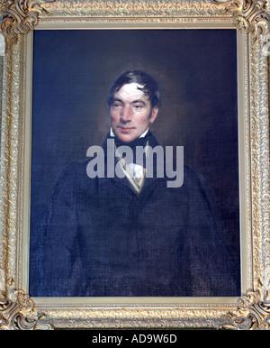 Portrait of Robert Owen in New Lanark, Scotland - Stock Photo