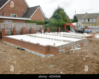 Cavity brick block wall with insulation viewed from for New home insulation
