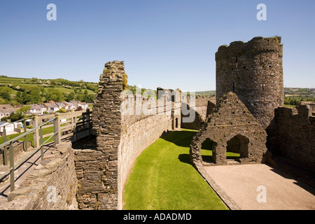 Wales Carmarthenshire Kidwelly castle interior - Stock Photo