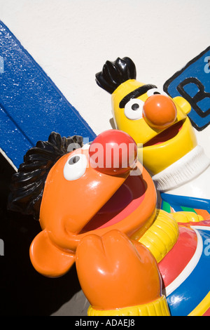 Wales Carmarthenshire Carmarthen Pendine Muppet character childrens ride - Stock Photo