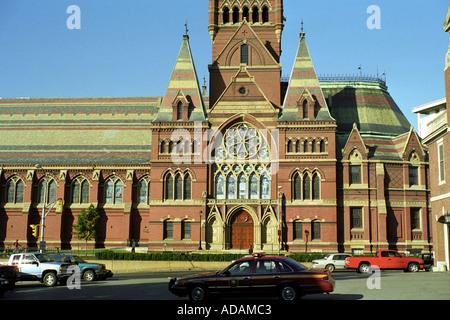 Harvard university Cambridge MA Massachusetts Memorial Hall Harvard University in Cambridge - Stock Photo