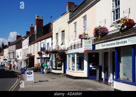 High Street, Thornbury, Gloucestershire, England, UK - Stock Photo