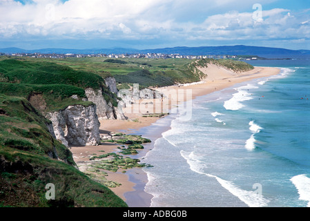 White Rocks, Portrush County Antrim Northern Ireland - Stock Photo