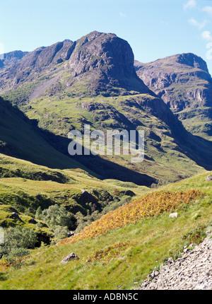 dh The Three Sisters Glen Coe GLENCOE ARGYLL Scottish Valley mountainous peaks mountain munro scotland munros mountains