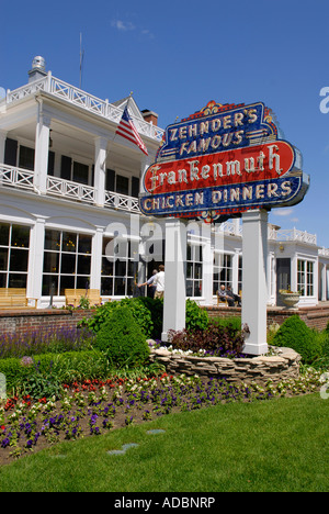 Zehnder's Restaurant. Drag the map around and select different hotspots to learn about interesting locations.