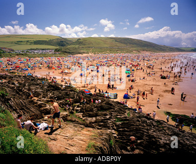 Woolacombe beach North Devon, England, UK. - Stock Photo