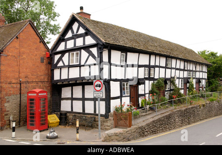 Duppa Cottages former almshouses dating from the post medieval period 16th century Pembridge Herefordshire England - Stock Photo