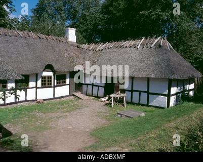 Hule Farm, Den Fynske Landsby, Funnen village, south of Odense, Fyn (Funen), Denmark. - Stock Photo
