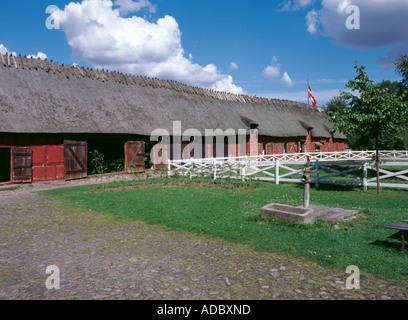 Tommerup Refactory, Den Fynske Landsby, Funnen village, south of Odense, Fyn (Funen), Denmark. - Stock Photo
