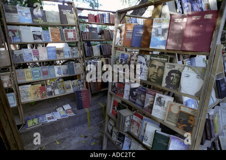 Books being sold in an open air market in Havana Cuba - Stock Photo