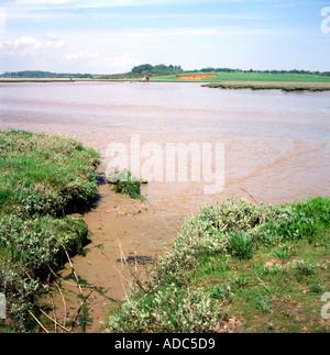 Butley river creek Suffolk England - Stock Photo