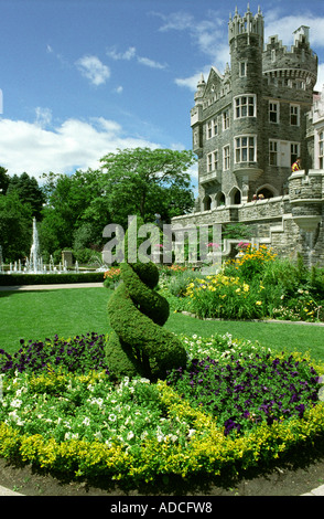 Gardens at casa loma toronto ontario canada stock photo for Casa loma mansion toronto