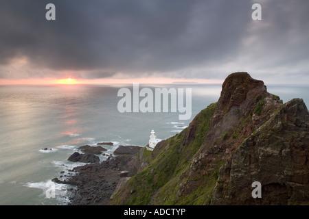 Hartland Point Lighthouse, North Devon, England, UK, Europe - Stock Photo