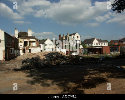 Views of Jolly Sailor pub during demolition work - Stock Photo