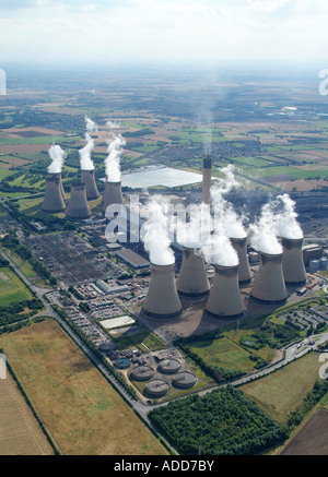 Drax Coal Fired Power Station, North Yorkshire, Northern England, summer 2007 - Stock Photo