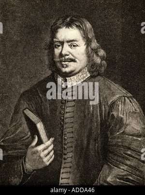 John Bunyan, 1628 -1688.  English writer and Puritan preacher. Author of The Pilgrim's Progress. - Stock Photo