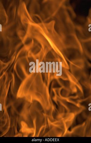 Flames, full frame - Stock Photo
