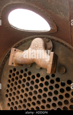 Inside rusty old boiler of steam engine Stock Photo: 4369649 - Alamy