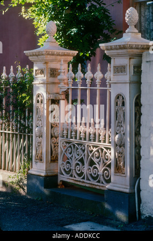Exterior of victorian house with ornate wrought ironwork for Terrace house full episodes
