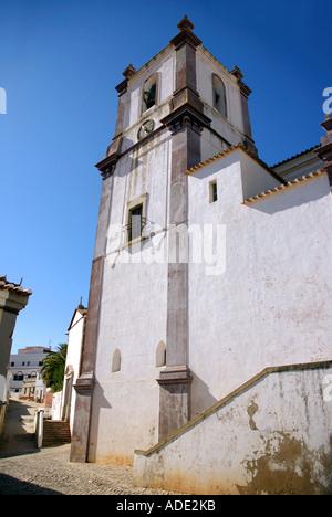 View of Igreja da Misericordia & Sé de Silves Mercy Church & Cathedral Albufeira Algarve Iberia Portugal Europe - Stock Photo