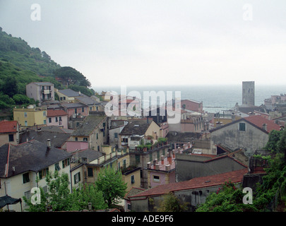 View over Monterosso, Cinque Terre, Italy - Stock Photo