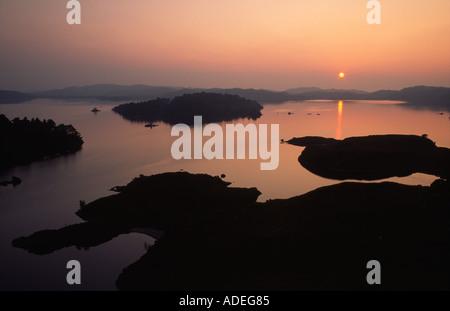 Sunset Loch Morar - Stock Photo