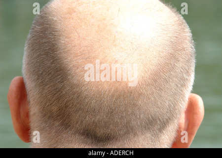a back of a male head - Stock Photo