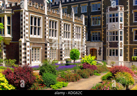 Middle Temple Hall and Gardens Inns of Court London UK - Stock Photo