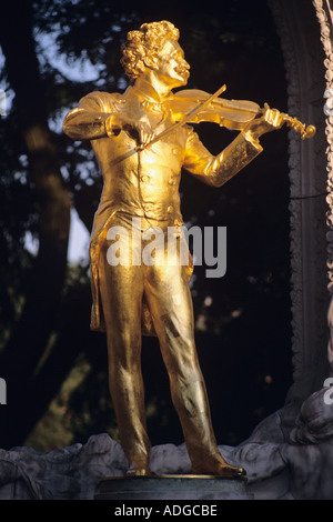 Strauss Statue Stadtpark Vienna Austria - Stock Photo