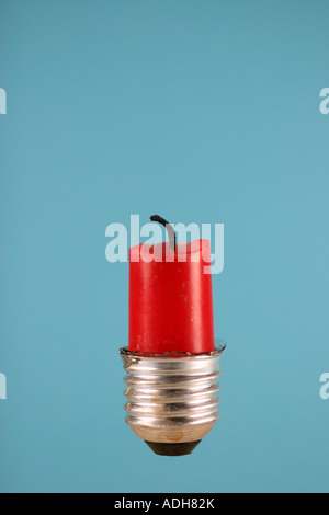 candle in a bulb - Stock Photo