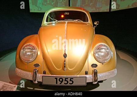 Germany Wolfsburg Autostadt car city of Volkswagen AG VW Beetle 1955  - Stock Photo