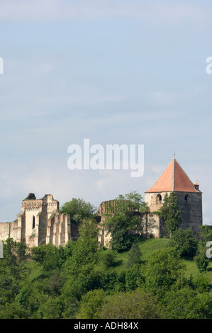 Slimnic castle, near Sibiu, Transylvania, Romania - Stock Photo