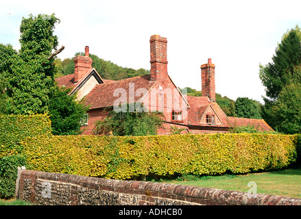 Beautiful cottages in a classic English village - Stock Photo
