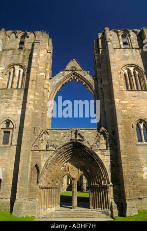 Elgin Cathedral West Entrance Moray Grampian Region Scotland - Stock Photo