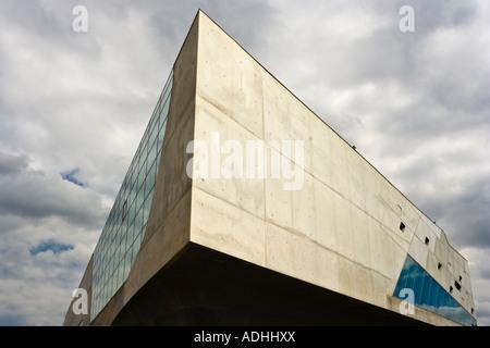 exterior view of the Phaeno science center in Wolfsburg by architect Zaha Hadid - Stock Photo