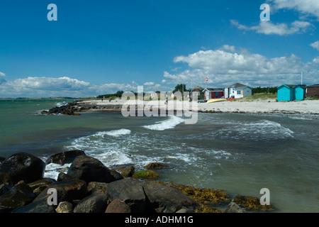 Row of beach houses Ærø s Hale Marstal Denmark - Stock Photo