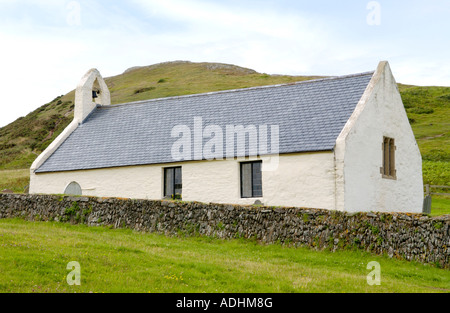 Mwnt Church dates from the 14th Century originally used by pilgrims at Mwnt Pembrokeshire West Wales UK - Stock Photo